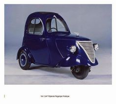 daf 1 person city car (1941) nicknamed 'driving raincoat'