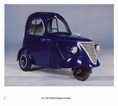 daf 1 person city car (1941) nicknamed 'driving raincoat'