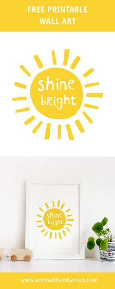 Free Printable Wall Art, Free Nursery Printable.