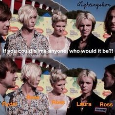 Ellington and Ross go right for their girls// Awkward moment when Ross is not dating Laura...