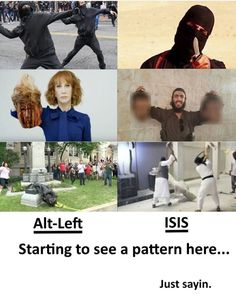 The left is imitating the ISIS - islamic state alliance against Christians and any other group of humans who don't agree with them. Liberal Hypocrisy, Liberal Logic, Stupid Liberals, Conservative Politics, Current Events, Wake Up, America, Humor, Wedding Ring