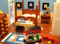 This dollhouse made of Legos had a dollhouse made of Legos in it.