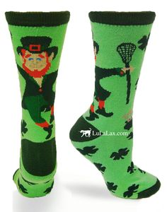 Let these socks be your lucky lacrosse charm!