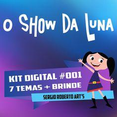 EARTH TO LUNA ( 7 themes )  El mundo de Luna O Show da Luna Kit Scrapbook Digital Papers and Elements Cliparts 300 dpi Instant Download
