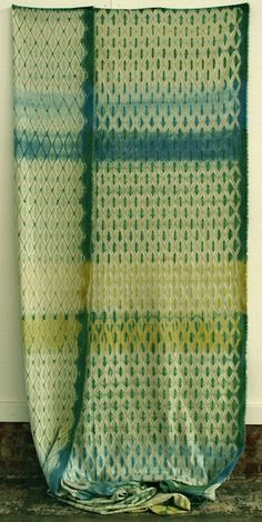 Woven shibori by fiber artist Catharine Ellis. via textile arts center
