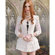 Kawaii Fashion, Lolita Fashion, Cool Outfits, Fashion Outfits, Women's Fashion, White Rose Flower, Barbie Model, Pink Doll, Dress Images