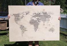 Polywood world map I Verdenskart i kryssfiner