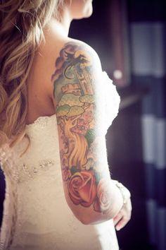 Wedding Tattoos, Tattooed Wedding, Tattooed Brides, On Your Wedding Day, Wedding Blog, Dream Wedding, Peach Plum Pear, Brides With Tattoos, Wedding Pinterest