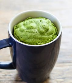 Matcha Green Tea Mug Cake | Kirbie's Cravings | A San Diego food blog
