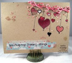 Unity Stamp Co. Design Team Member - @Carisa Zglobicki - using the Kit of the Month - January 2013 - {All Hearts and Love}  http://www.unitystampco.com