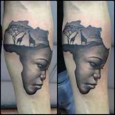 africa tattoo - Pesquisa Google