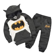 Duopindun@Baby Kids Girls Boys Batman Top Hoodie+Pants Sweatshirt Suit Outfits Set – USD $ 15.25