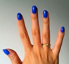 Shellac nails royal blue
