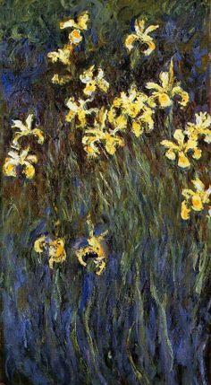 Claude Monet (French painter, 1840-1926) Yellow Iris 1914-1917.