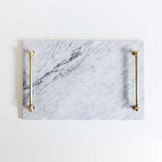 Marble + Brass Tray #etsy