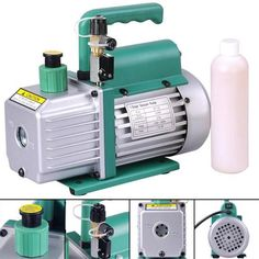 3 CFM 1-Stage AC Refrigerant Vacuum Pump Green