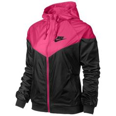 Nike Windrunner Jacket - Women s - Casual - Clothing - Black Pink Foil  รองเท้าวิ่ง fec6f8f91
