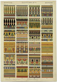 Egyptian Ornament from The Grammar of Ornament; NYPL