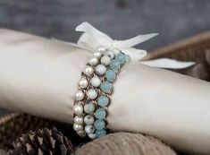 Bead and Chain Ombre   24 Super Easy DIY Bracelets