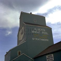 Provincial Archives of Alberta: Grain elevator at Strathmore, Alberta [My grandparents farmed just east of Strathmore--nt]
