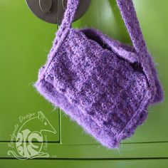 """One of the things I like most about crochet is that it is inherintly textural. Even when you do not use one of the more """"textural"""" stitches, such as popcorns or puffs, crochet has textu… Satchel, Felt, Texture, Stitch, Crochet, Design, Surface Finish, Felting, Full Stop"""