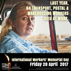 Even one worker suffering death or injury at work is one worker too many.   Family friends and colleagues who have lost someone dear through a workplace death  as well as union members delegates and community members   are invited to a special memorial ceremony that will be held 10am Friday 28 April at Emma Miller Place Roma Street Brisbane.  On Worker's Memorial Day we mourn for the dead and fight for the living.  #qldunions #proudtobeunion #comehomesafe #iwmd17
