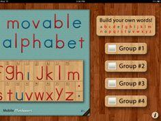 Montessori Movable Alphabet iPad app by Mobile Montessori