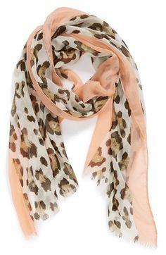 Lulu Cheetah Print Woven Scarf (Juniors)