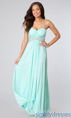 Long Spaghetti Strap Dress, B Darlin Prom Dress - Simply Dresses