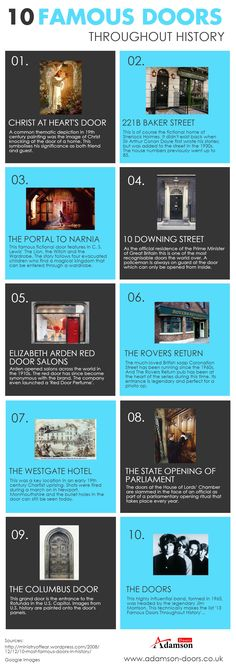 10 Famous Doors throughout History http://visual.ly/10-famous-doors-throughout-history