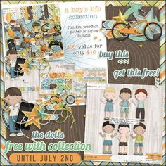 Check out this fun new boys collection from Studio Flergs. Get the dolls free with purchase of the collection until July 2nd.