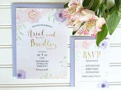 Floral Wedding Invite, Elegant Wedding Invitations, Floral Wedding Invitations, Watercolor Wedding Invites, Traditional Wedding Invitations, Unique Wedding Invite, Custom Wedding Invitations, Vintage Wedding Invite