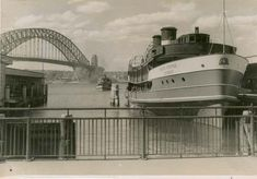 ['South Steyne' ferry docked at Circular Quay, Sydney (NSW)] Sydney City, Sydney Harbour Bridge, Sydney Ferries, Bronte Beach, Largest Countries, History Photos, The Old Days, Sydney Australia, Aussies