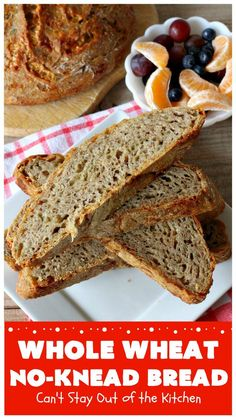 Whole Wheat No-Knead Bread | Can't Stay Out of the Kitchen | fantastic #NoKneadBread using #WheatFlour, #ProvoloneCheese