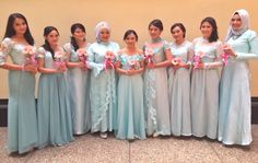 Baby blue bridesmaid