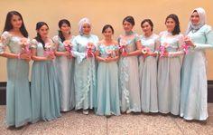 Baby blue bridesmaid