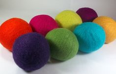 Wool dryer balls.  An eco-friendly alternative to dryer sheets.