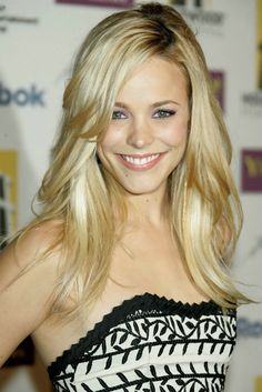 Rachel McAdams hair inspiration - i love the bangs and the layers, I just want mine maybe 2 inches shorter