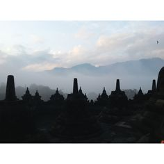 Greetings from Borobudur @ Java Island, indonesia. - a 9th- century Mahayana Buddhist Temple, stands a mountain of thousand statues which is shrouded in mystery and valcones ... was abandoned for centuries. UNESCO World Heritage Site. - --  - 'There are many paths to enlightenment. Be sure to take one with a heart.' - Lao Tzu
