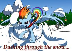 Dashing through the snow... by NadnerbD.deviantart.com on @deviantART