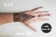 DIY NATIVE TRIBAL HENNA TATTOO