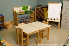 Montessori Classroom Design: Fostering Independence. Would definitely work for a private tutoring session. Doesn't really belong anywhere else in a public school setting.