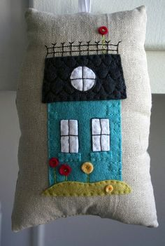 pillow with felt