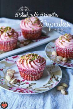 Pistachios & Rosewater Cupcakes