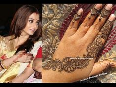 YouTube #aishwarya #bachchan #inspired #floral #arabic #strip #henna #mehndi #design