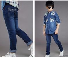 77e301e1d6d7 F17023  2017fashion Skinny Euramerican Vintage Latest Children Straight  Soft Boys Jeans Kids Pants China Wholesale