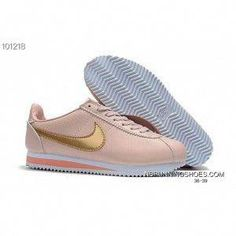 56133c800602 Nike Classic Cortez Nylon Leather Retro Women Running Shoes Pink Gold New  Year Deals