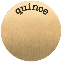 LARGE GOLD QUINCE PLATE (also in silver)
