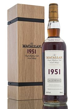 An incredible 1951 vintage release from The Macallan Fine & Rare Series. Sherry butts #1541 and #1542