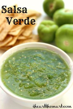Easy Salsa Verde Recipe - Price Match at Walmart, Coupon at Walmart, Save Money at Walmart Unique Recipes, Great Recipes, Favorite Recipes, Mexican Dishes, Mexican Food Recipes, Ethnic Recipes, Easy Salsa Verde Recipe, Guacamole, Salsa Picante